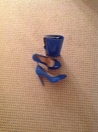 Ladies shoes blue and clutch bag to match , shoes SZ 7 Ottawa, K1K 0S1