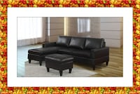 Black Sectional Brand New with free Ottoman $365 HYATTSVILLE