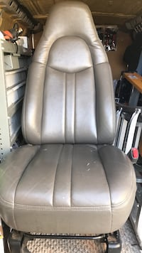 gray leather padded rolling armchair Edmonton, T5A 3P8