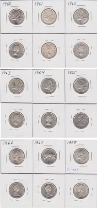 Canadian 25 Cent Silver Coins CALGARY