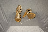 Gladiator Style Lace Up Cork Women's Heels - Size 5 1/2 Tampa