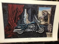 blue touring motorcycle painting Revere, 02151