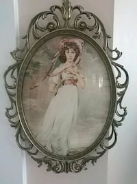 Antique framed painting Laval, H7G 2W7