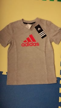 Gray and red adidas crew-neck shirt Mississauga, L5B 4M1