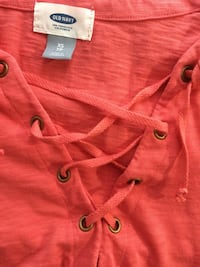 Relaxed Lace-Up Mariner-Knit Top for Women