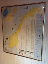 World Map plakat i grå ramme Stathelle, 3960