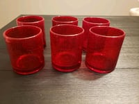 Set of 6 Red Bubble Double Old Fashioned Glasses  Nashville, 37013