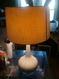brown wooden base with white lampshade table lamp Capitol Heights, 20743
