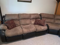 Brown Recliner Sectional
