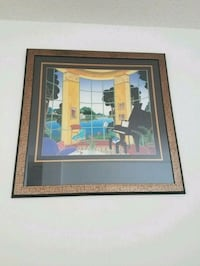 brown wooden framed painting of house Arlington, 22202