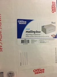 Office depot mailing box Silver Spring, 20904
