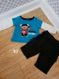 blue and black crew-neck t-shirts Lincoln Park, 48146