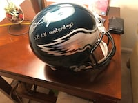 "Lane Johnson Signed Super Bowl LII Eagles FULL SIZE helmet Inscribed ""SB LII Underdogs"" JSA Reston, 20191"