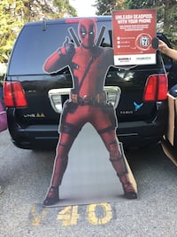 Full size Deadpool stand up cardboard Toronto, M1E