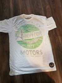 white, green, and black American Motors crew-neck t-shirt Dollard-des-Ormeaux, H9B 1C1