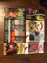 Eight assorted VHS tapes Bowie, 20716