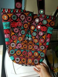 green, red, and blue floral crossbody bag Bristow