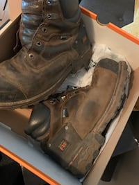 Timberland pro steel toe work boots Size 9 wide fit
