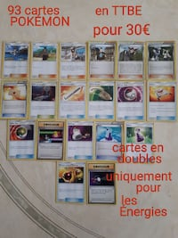 Lot cartes Pokémon tbe