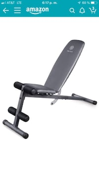 Massage table + work out bench.