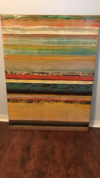 multicolored stripe painting