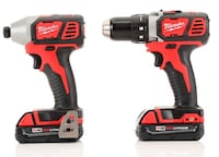 red and black Milwaukee cordless power drill Surrey, V3T 2G1