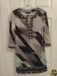 Size S - BCBGMaxazria black and white dress