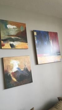 Three  wooden framed painting of trees Toronto, M3L 2N4