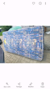 blue and white floral simple mattress Delson