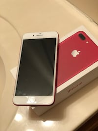 RED iphone 7 plus with box, charger, headphones, etc Dunn, 28334