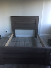 Gray wooden bed frame  Arlington, 22202
