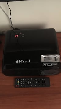 "LESHP HD Projector W/ 50"" Screen"