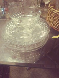 clear cut glass bowl with lid Augusta, 30906