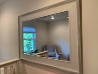 Large white and gray mirror - 34x45 inches
