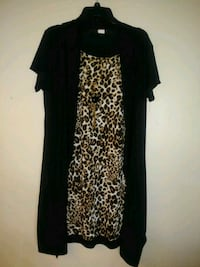 black and brown leopard print dress Moreno Valley, 92557