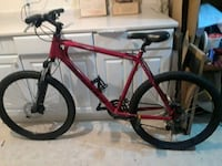 Devinci red and black hardtail mountain bike Edmonton