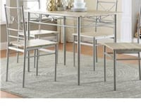 5-Piece Silver Dining Room set * MUST GO* NEW Jacksonville