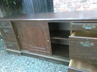 Cradenza buffet table vintage made with real wood
