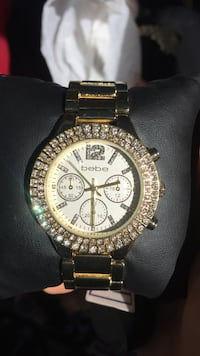 round gold-colored Michael Kors chronograph watch Moreno Valley, 92553