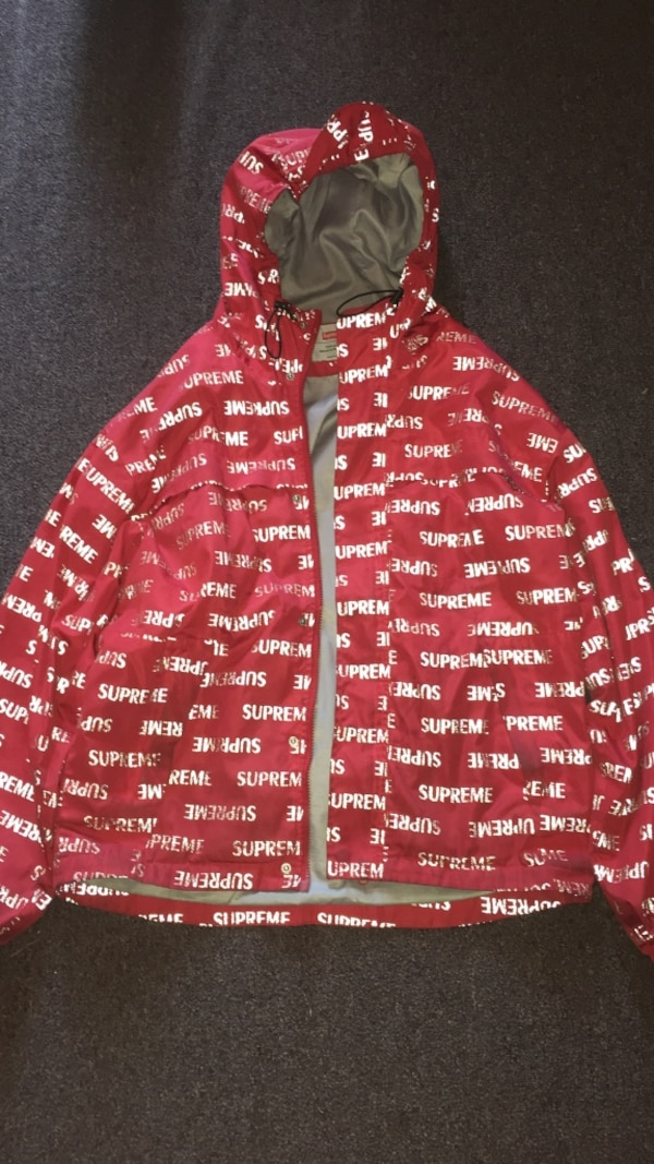 Supreme 3m Reflective Repeat Taped Seam Jacket Red