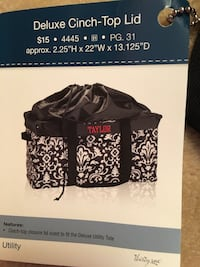 Thirty One Deluxe Cinch Top Lid 31 Plymouth, 55442