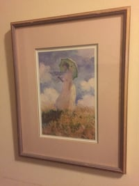 "Beautiful ""woman with parasol"" Monet print gorgeous accent for any wall 722 km"