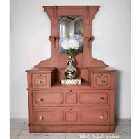 Rustic Farmhouse Eastlake Dresser 724 km