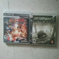 PS3 games resistance fall of man,street fighter te Winnipeg, R3B 2S6