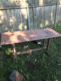 Brown and black wooden picnic table Metairie, 70003