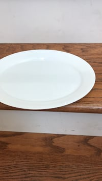 """COMCOR 11 1/2"""" White Oval Platter by Corning  Hagerstown, 21742"""