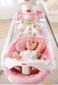 Toddler's white fisher-price cradle 'n swing Toronto, M2J 3C8