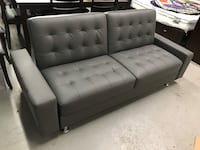 Brand new grey faux leather modern sofa bed warehouse sale  多伦多