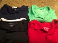 Men's Polo/golf shirts slightly used and in good condition.  Gaithersburg, 20877