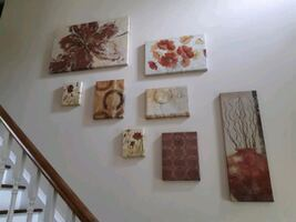 Set of 8 Canvas Pictures